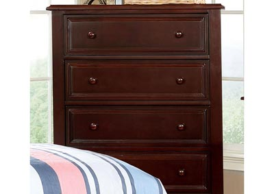 Olivia Dark Walnut Drawer Chest