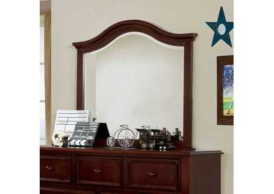 Image for Olivia Dark Walnut Mirror