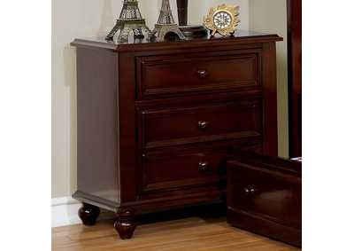Olivia Dark Walnut Nightstand