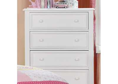 Image for Olivia White Drawer Chest