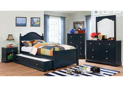 Diane Blue Twin Platform Bed