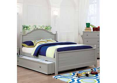 Diane Gray Full Platform Bed