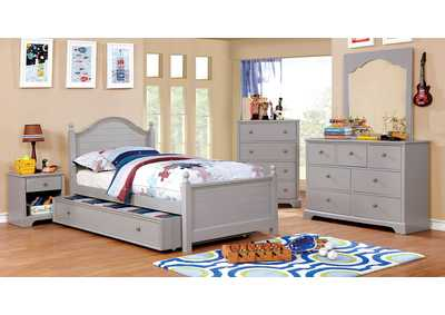 Diane Gray Twin Platform Bed