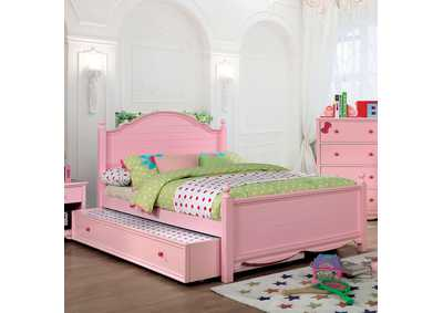 Dani Pink Full Platform Bed (Trundle Not Included)