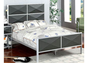 Largo Silver & Gray Full Panel Bed