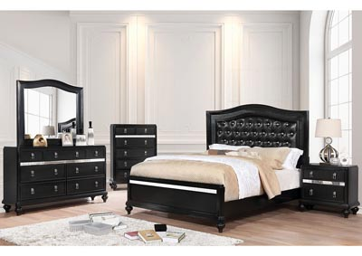 Ariston Black King Bed