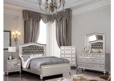 Ariston Silver Queen Bed