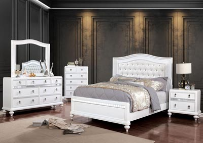 Ariston White King Bed