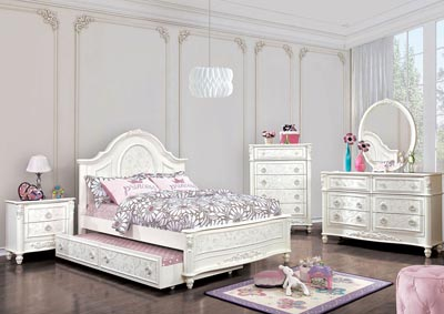 Meredith White Full Platform Bed