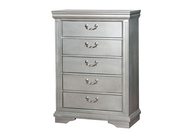 Claudia Silver Gray Chest