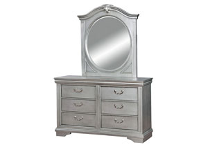 Claudia Silver Gray Mirror
