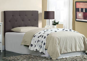 Leeroy Dark Grey Twin Platform Bed