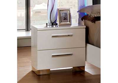 Clementine White Lacquer Nightstand