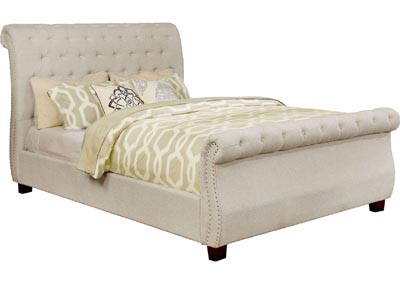 Emanuela Gray Upholstered Queen Sleigh Bed