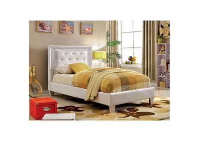 Lianne White Twin Platform Bed