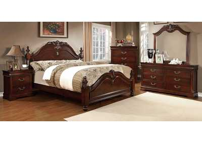 Mandura Cherry California King Poster Bed w/Dresser and Mirror