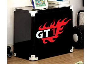 Power Racer Black Metal Nightstand