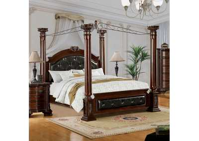 Mandalay Brown Cherry Queen Canopy Bed