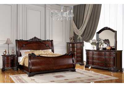 Image for Bellefonte Brown Cherry California King Sleigh Bed