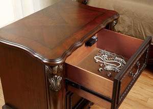 Castlewood Cherry Drawer Chest w/Filigree Carvings