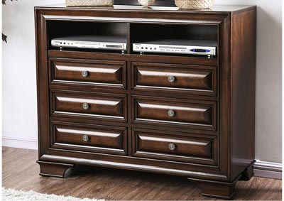 Brandt Brown Cherry Media Chest