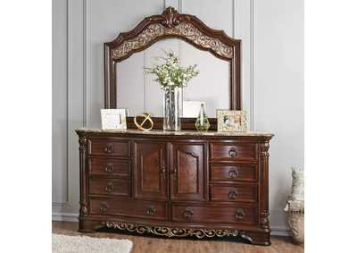 Image for Menodora Brown Cherry Dresser