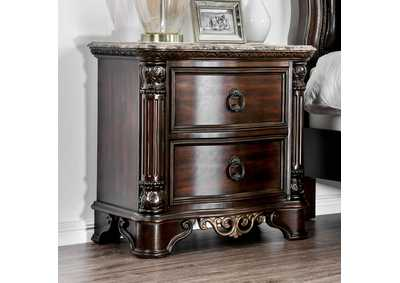 Menodora Brown Cherry Nightstand