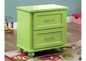 Lacey Apple Green 2 Drawer Nightstand