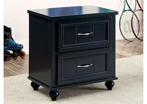 Lacey Blue 2 Drawer Nightstand