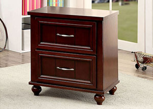 Lacey Espresso 2 Drawer Nightstand