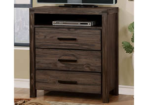 Image for Rexburg Dark Gray Wire-Brushed Media Chest