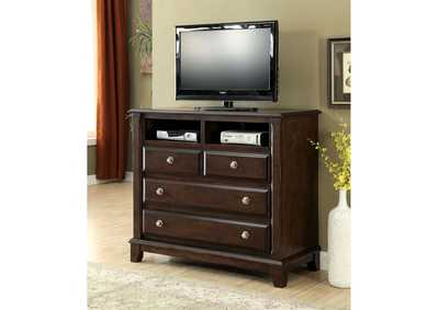 Litchville Brown Cherry Media Chest