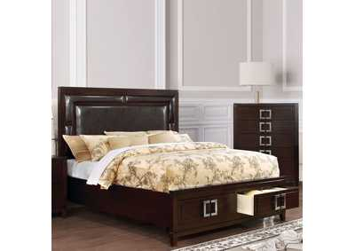 Balfour Brown Cherry California King Storage Bed