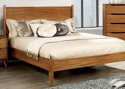 Lennart I Oak Full Platform Bed