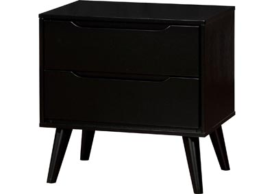 Lennart II Black Nightstand