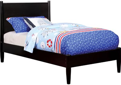 Lennart II Black Twin Platform Bed