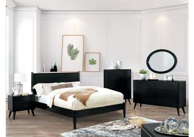Lennart II Black California King Platform Bed