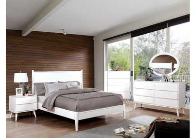 Lennart II White Queen Platform Bed