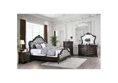 Image for Bethesda Espresso Upholstered California King Panel Bed w/Dresser and Mirror