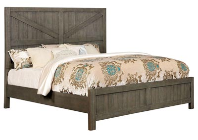 Brenna Gray Queen Panel Bed