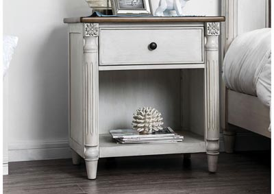Hesperia Antique White Nightstand