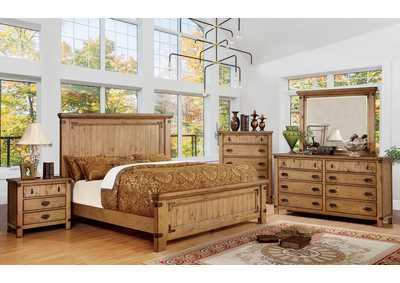 Image for Pioneer Weathered Elm Eastern King Platform Bed w/Dresser and Mirror