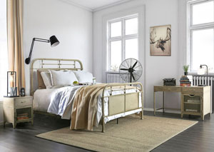 Image for Haldus Ivory Full Panel Bed