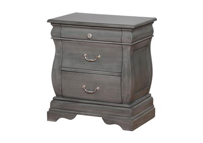 Merida Gray Nightstand