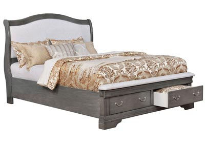 Merida Gray California King Platform/Storage Bed