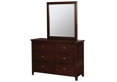 Brogan Brown Cherry Dresser w/Mirror,Furniture of America