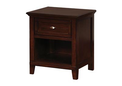 Brogan Brown Cherry Nightstand