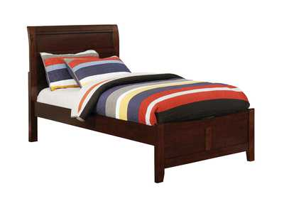 Brogan Brown Cherry Full Sleigh Bed