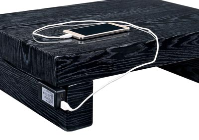Christie Black Lacquer Nightstand