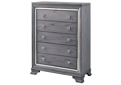 Alanis Light Gray Chest w/Mirror Trim